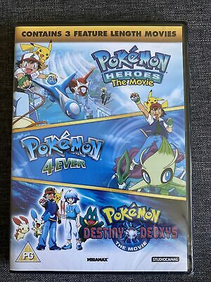 $4.80 • Buy Pokemon Triple Movie Collection, Heroes/4ever/Destiny Deoxys NEW SEALED DVD