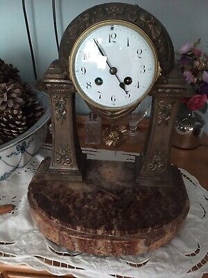 Antique Portico Clock Spares Or Repair Beautiful Please Look • 62£