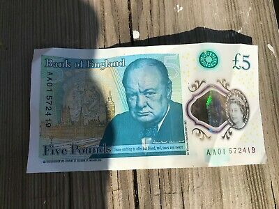 Aa01 Five Pound Note Good Condition  • 5.99£