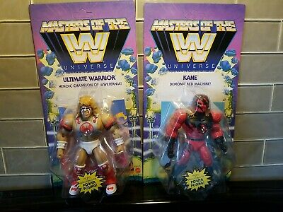 $79.98 • Buy Ultimate Warrior  & Kane Wave 6 Masters Of The WWE Universe MOTU New Lot Of 2
