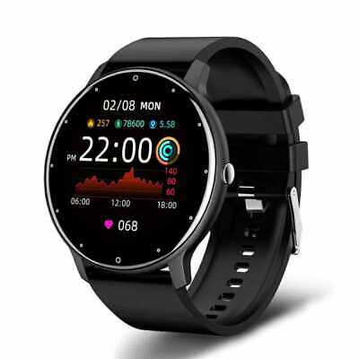 AU46.22 • Buy 2021 Smart Watch Men Touch Screen Sport Fitness Waterproof Bluetooth Android Ios