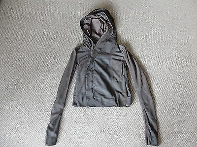 Rick Owens Blistered Lamb Leather Hooded Biker Jacket Dark Dust Size 8  • 300£