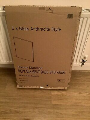 £25 • Buy B & Q 1 X Gloss Anthracite Style Base End Panel WxDxH -570x18x720mm