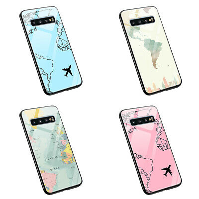 £10.29 • Buy Map World Airplane  M08  Tempered Glass Silicone Phone Case