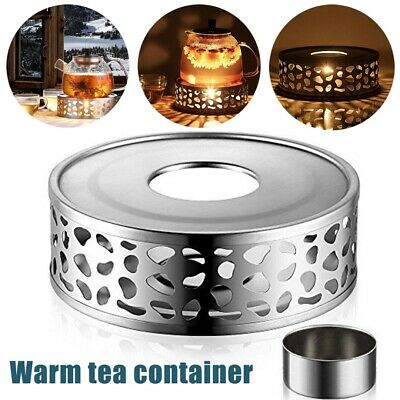 £6.15 • Buy Stainless Steel Candle Round Base Heater Coffee Tea Teapot Light Warmer Holders