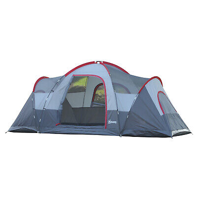 6 Person Camping Tent Family Size Spacious Room 2 Sleeping Area Outdoor Shelter • 129.99£