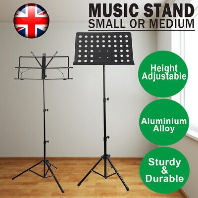 £7.99 • Buy Adjustable Foldable Music Stand Orchestral Book Paper Sheet Holder Tripod Stand