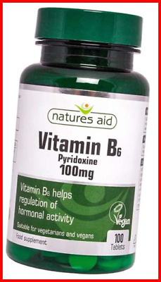 £7.47 • Buy Natures Aid Vitamin B6 100 Mg, Pyridoxine, Suitable For Vegans, 100 Tablets