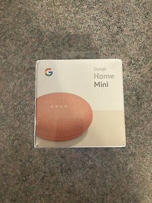 AU11.94 • Buy Google Home Mini Smart Assistant - Coral