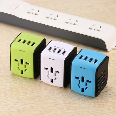 AU29.48 • Buy Universal Travel Charger Adapter With EU US UK AU Plug Power Sockets Extension