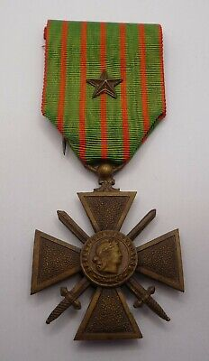 £24.99 • Buy France / French Ww1 Croix De Guerre Medal 1914 - 1918 With Citation Star (a)