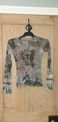 AU28.80 • Buy Women's Long Sleeved Save The Queen Top Size Large