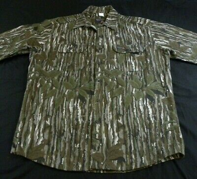 $39.99 • Buy Vintage RATTLERS Brand REALTREE Camo Heavy Cotton Chamois Hunting Shirt Size L