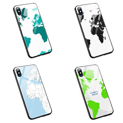 £10.29 • Buy World Map Travelling  M33  Tempered Glass Silicone Phone Case