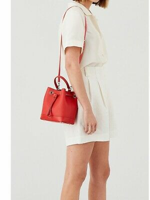AU159 • Buy Oroton Bag - Maud Small Bucket Red- Brand NEW RRP $329 💝 **FREE DELIVERY**