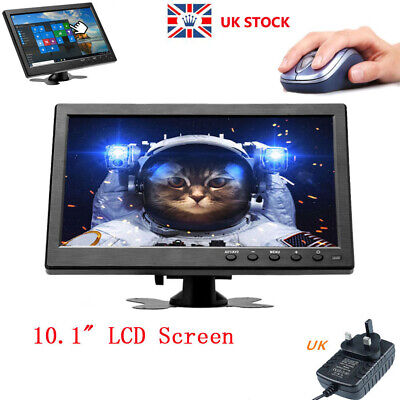 £62.99 • Buy 10.1  LCD Monitor Audio Security CCTV Touch Button Display HDMI LED VGA UK