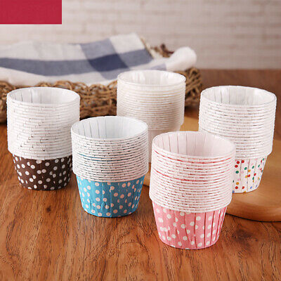 £4.71 • Buy 100Pcs Small Muffin Cup Baking Wrapper Cupcake Liner Pan Case Paper Dot Decor UK