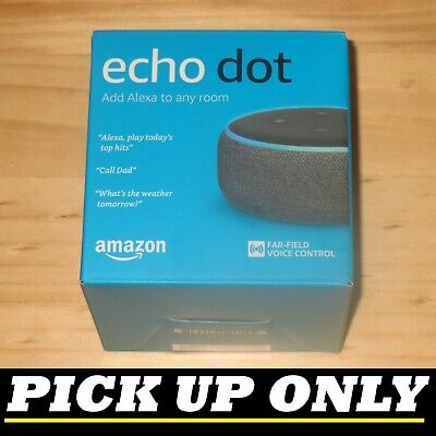 AU35 • Buy AMAZON Echo Dot (3rd Gen) Smart Speaker - Charcoal Fabric  NEW [PICKUP ONLY Vic]