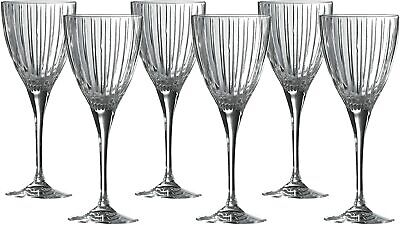 Royal Doulton Linear Crystal Wine Glass Set Of 6  -  Brand New Boxed • 44.95£