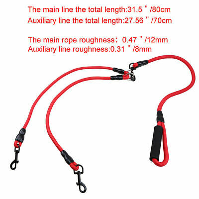 AU16.48 • Buy No Tangle 2/3/4 Way Pet Leash Lead Dog Polyester Rope Training Strap Adjustable
