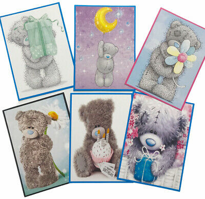 £2.39 • Buy 6 Cute Teddy Card Toppers/Pictures Birthday For Card Making/Tags SET3 -Silk Card