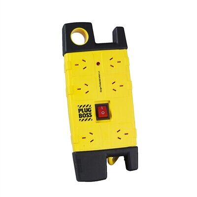 AU37.39 • Buy HPM 6 Outlet Plugboss Surge Protected Powerboard