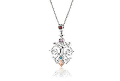 £79 • Buy NEW Official Welsh Clogau Silver & Rose Gold Bohemia Pendant £70 Off!