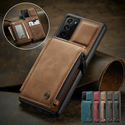 AU17.99 • Buy Leather Flip Wallet Card Holder Back Case For Samsung S21+ S20 S10 A51 A71 S9 S8