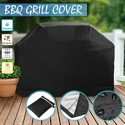 AU16.95 • Buy BBQ Cover 2/4 Burner Waterproof Outdoor Gas Charcoal Barbecue Grill Protector