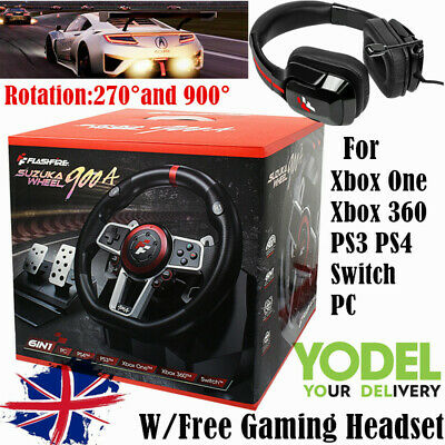 £102.99 • Buy Racing Game Steering Wheel Driving Simulator For PC/PS3/4/xbox 360/one Nintendo