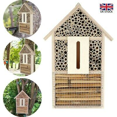 £11.55 • Buy Wooden Insect Bee House Natural Wood Bug Hotel Shelter Garden Nest Box Nesting