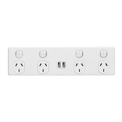 AU72.59 • Buy Deta Four Outlet Power Point With 3.4A USB Charger