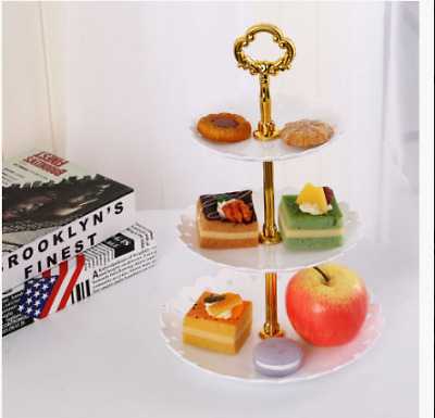 £6.78 • Buy 3 Tier Food Wedding Fruit Party Cake Plate Stand Cupcake Tool Serving Fittings