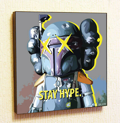 $29 • Buy Bearbrick Kaws Boba Fett Star Wars Decor Print Wall Poster Pop  Art Canvas