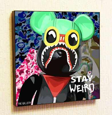 $29 • Buy Bearbrick Kaws WeirdDecor Print Wall Poster Pop  Art Canvas