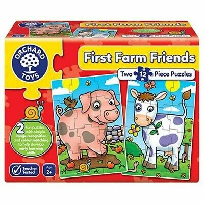 £7.99 • Buy Orchard Toys First Farm Friends - 2 X 12pc Jigsaw Puzzle