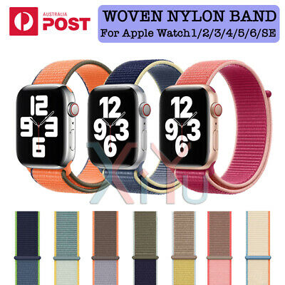 AU6.49 • Buy Sport Nylon Woven Loop Strap IWatch Band For Apple Watch Series SE 6 5 4 3 2 1