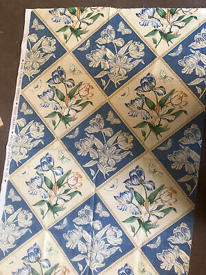 Fabric By Jane Churchill Tulip Squares New • 10£