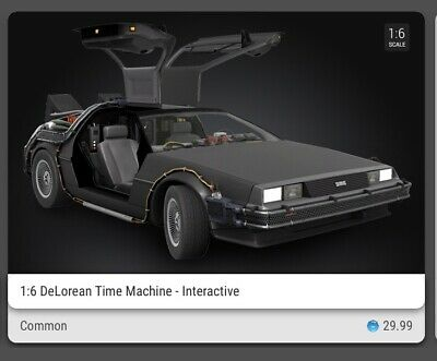 $70 • Buy VeVe NFT Back To The Future DeLorean Common 3D Digital Collectible Interactive