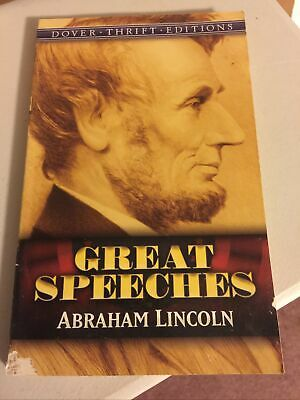 AU2.49 • Buy Great Speeches: Abraham Lincoln (Dover Thrift Editions)