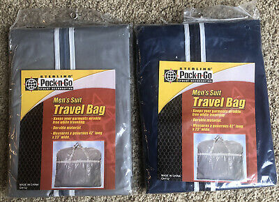 """AU20.59 • Buy 2- Sterling Pack-n-Go Accessories Men's Suit Travel Bags GH152 42""""x23"""" Zippered"""