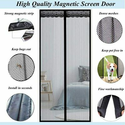£7.99 • Buy White Magnetic Door Curtain Net Screen Insect Bug Mosquito Fly Insect Mesh Guard