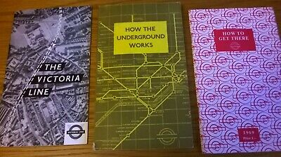 THREE London Underground (Tube) Books From 1960s - All In Very Good Condition  • 1.49£