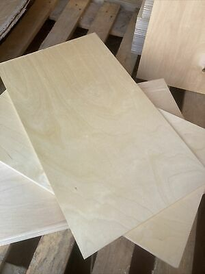 """£17.99 • Buy 15 Sheets 6mm Berch PlyWood   (520)X 300() New Proximately 21"""" X 12"""""""