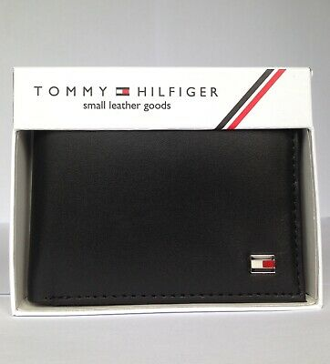 £17.99 • Buy Men's Leather Wallet 'TOMMY HILFIGER' BLACK, Bifold, Double Sided Card Slots