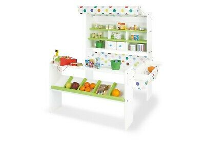 $ CDN240.25 • Buy Pinolino Market Stand Momo Of Wood IN White With Colourful Awning Nip