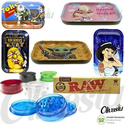 £8.99 • Buy Smoke Arsenal Large Rolling Tray Gift Set Many Designs No.1 Grinder + RAW Papers