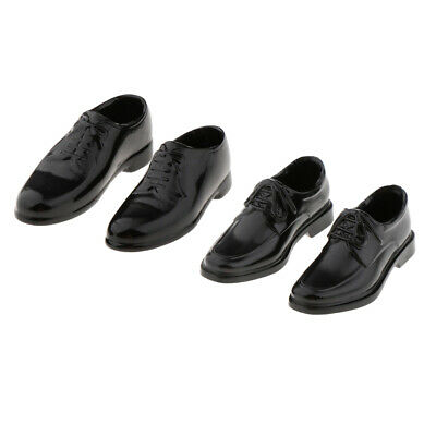 $13.98 • Buy 2Pairs 1/6 PU Leather Shoes For BBI DID Enterbay Men Figures Dress-Up Accs