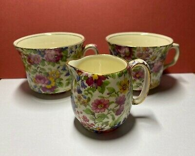 $ CDN17.27 • Buy Royal Winton Grimwades Summertime Chintz Cups And Small Creamer