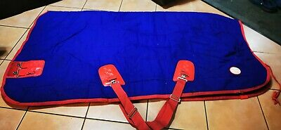 Fal Pro Rug Vitesse 5'9 Stable Rug Blue Red Trim Heavy Weight 400grm  • 20£
